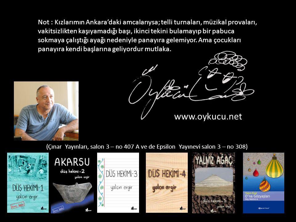 Ö y k ü c ü ise Komşu Yayınları Standında (salon 4 – no: 213) kitap imzalayacak.