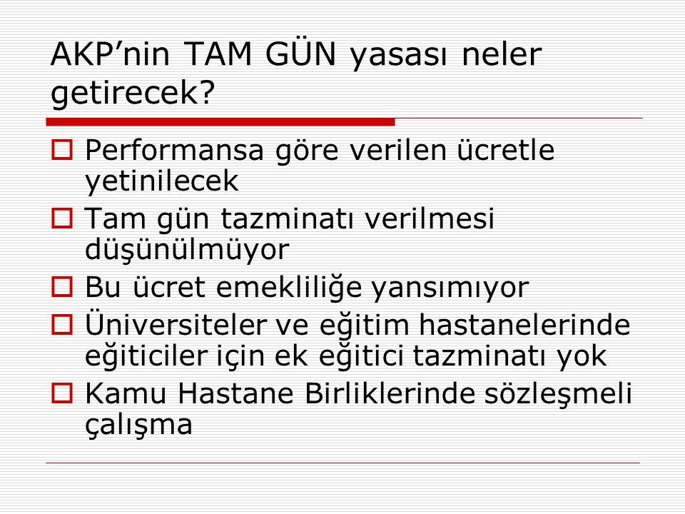 AKP'nin TAM GÜN yasası neler getirecek.