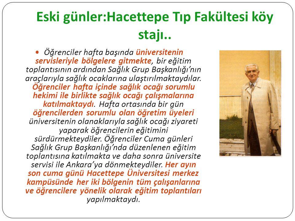 Eski günler:Hacettepe Tıp Fakültesi köy stajı..