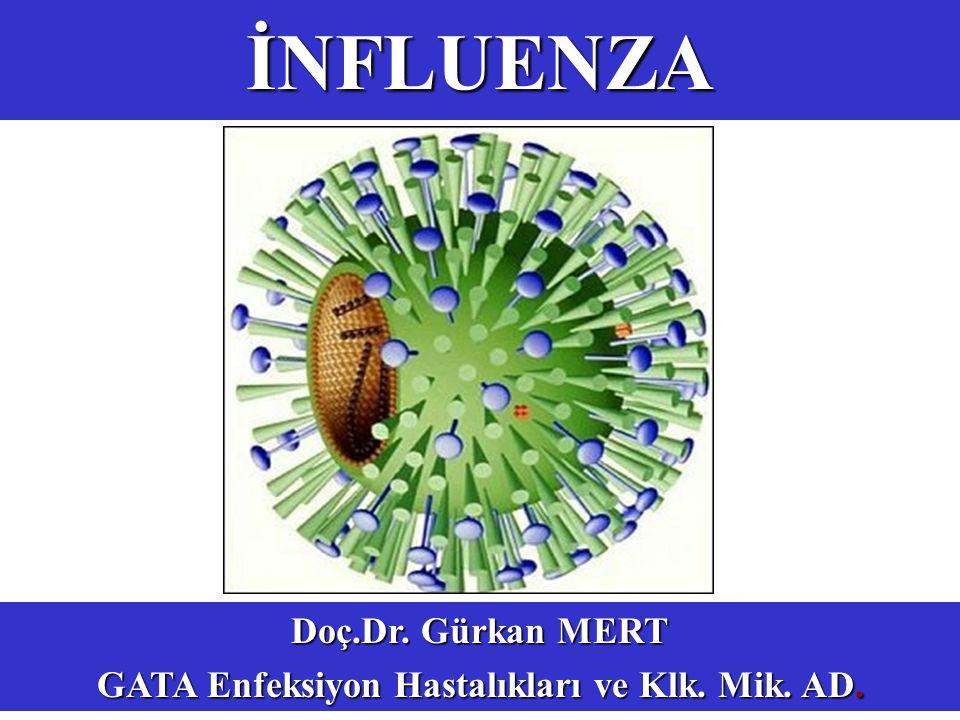 İNFLUENZA Doç.Dr. Gürkan MERT GATA Enfeksiyon Hastalıkları ve Klk. Mik. AD.