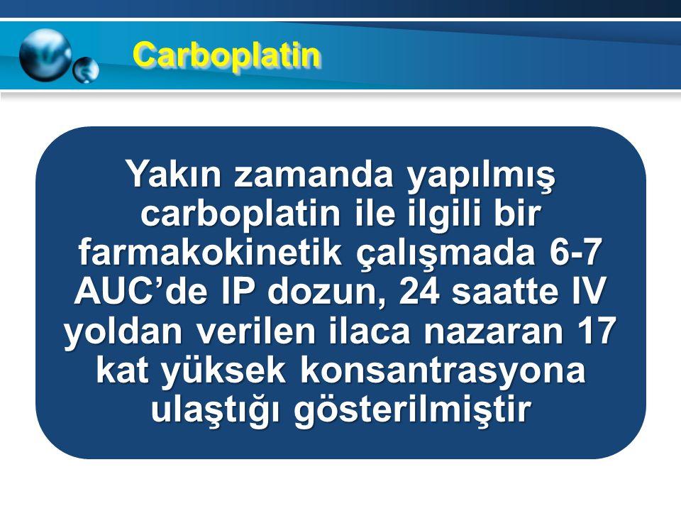 Rejim 3 1. Gün: Paclitaxel 135 mg/m2 üç saatlik IV infüzyon 2. Gün: Cisplatin 75 mg/m2 IP 8. Gün: Paclitaxel 60 mg/m2 IP Üç haftada bir toplam 6 siklu