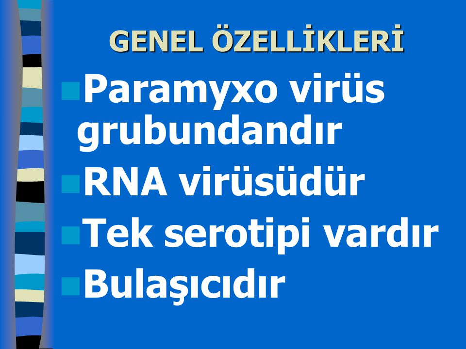 Bulaşıcılık ve klinik Kızamık hastalığı çok infeksiyözdür.
