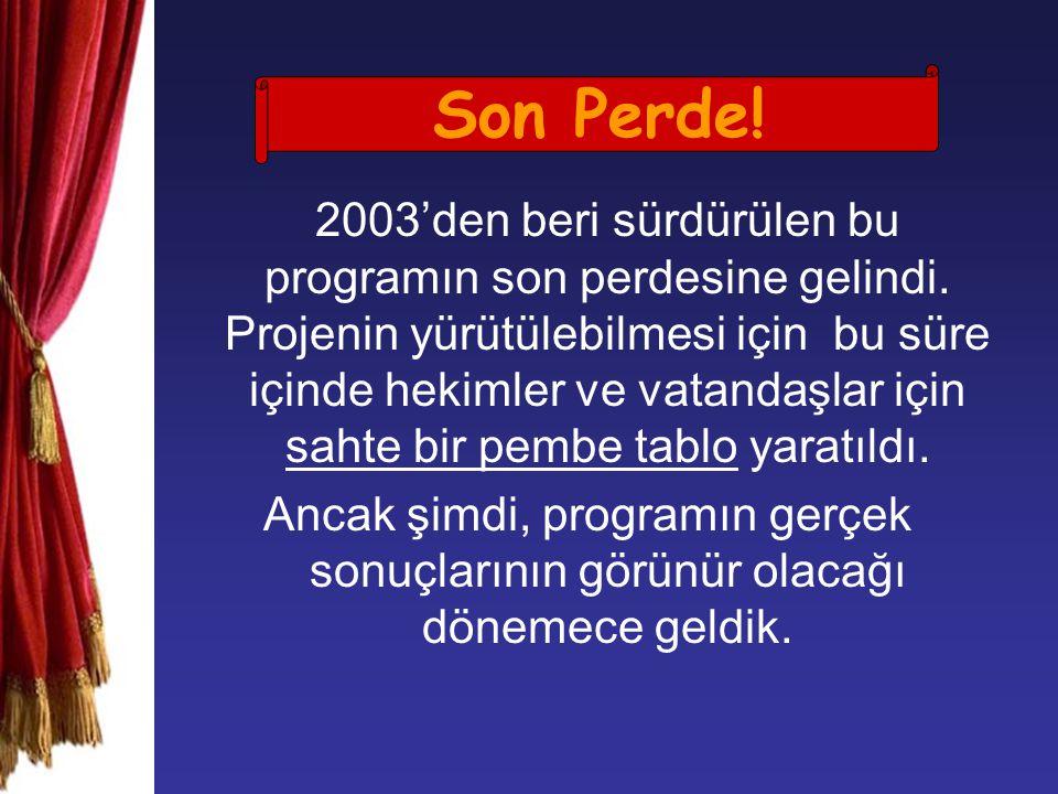 2003'den beri sürdürülen bu programın son perdesine gelindi.