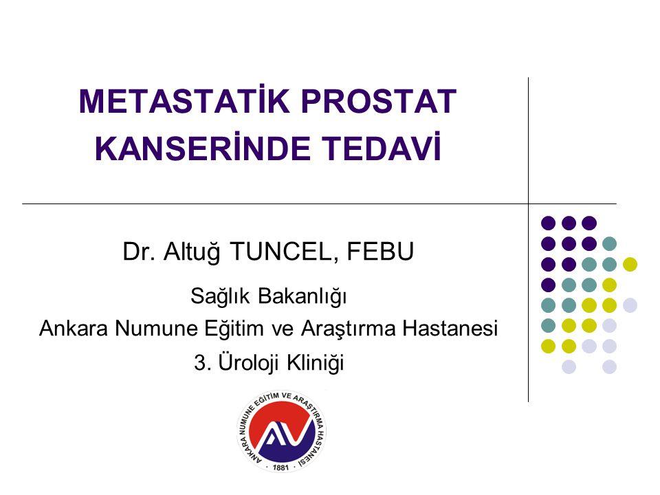 METASTATİK PROSTAT KANSERİNDE TEDAVİ Dr.
