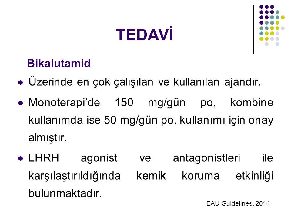TEDAVİ Bikalutamid Üzerinde en çok çalışılan ve kullanılan ajandır.
