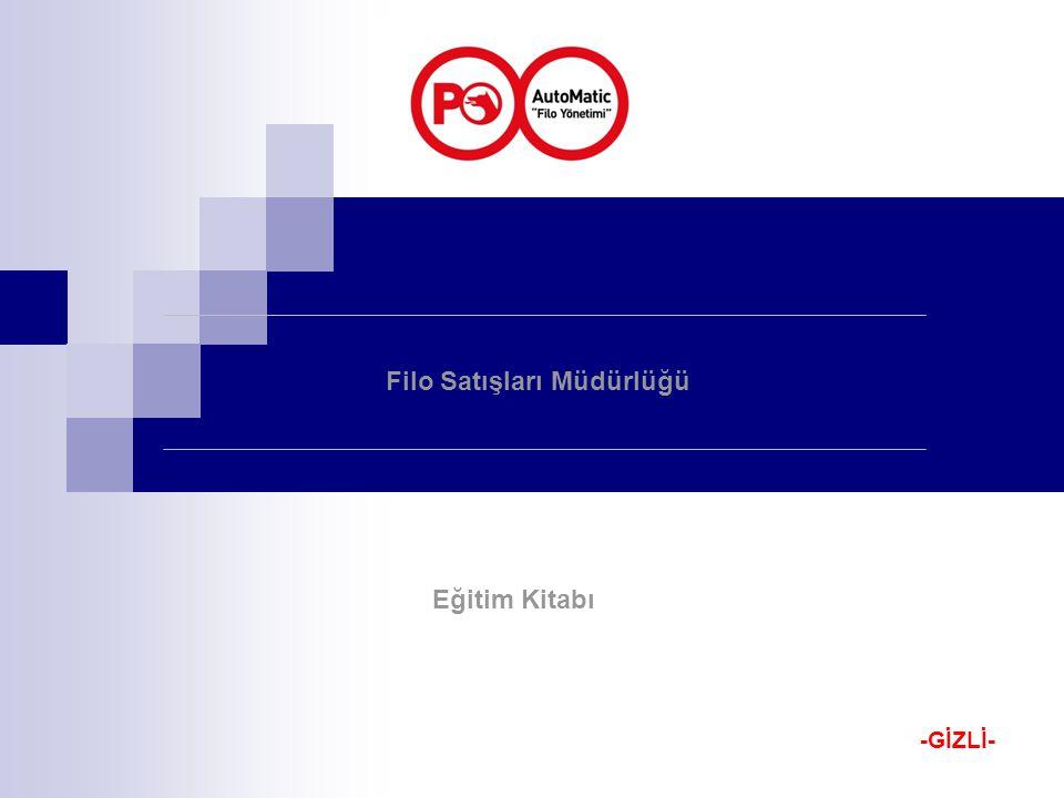 Filo Satışları Müdürlüğü Eğitim Kitabı -GİZLİ-