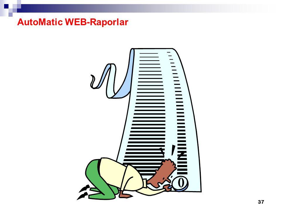 37 AutoMatic WEB-Raporlar