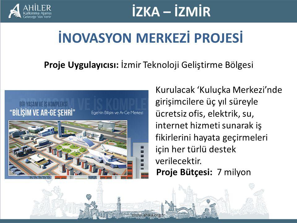 www.ahika.org.tr Kurulacak 'Kuluçka Merkezi'nde girişimcilere üç yıl süreyle ücretsiz ofis, elektrik, su, internet hizmeti sunarak iş fikirlerini hayata geçirmeleri için her türlü destek verilecektir.