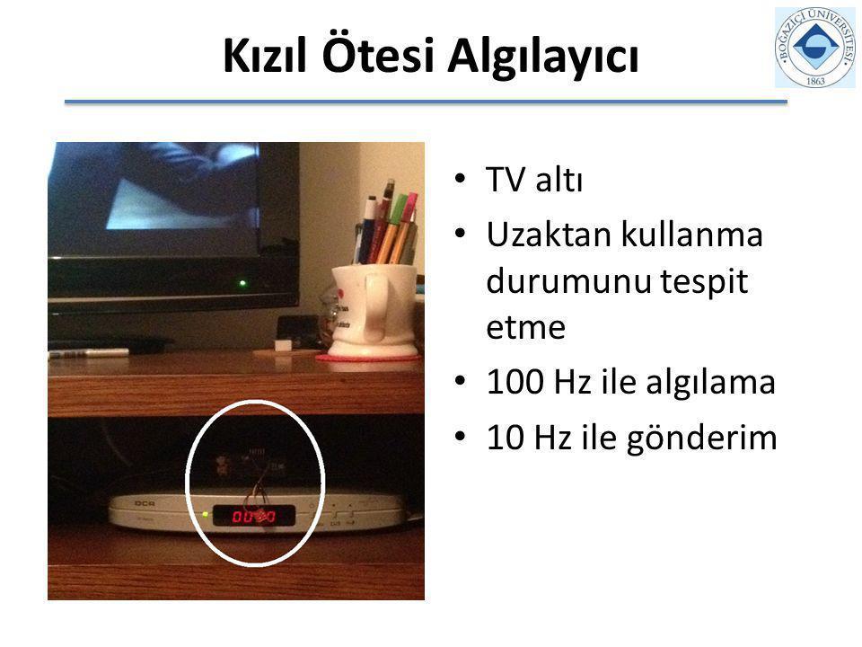 Kızıl Ötesi Algılayıcı TV altı Uzaktan kullanma durumunu tespit etme 100 Hz ile algılama 10 Hz ile gönderim