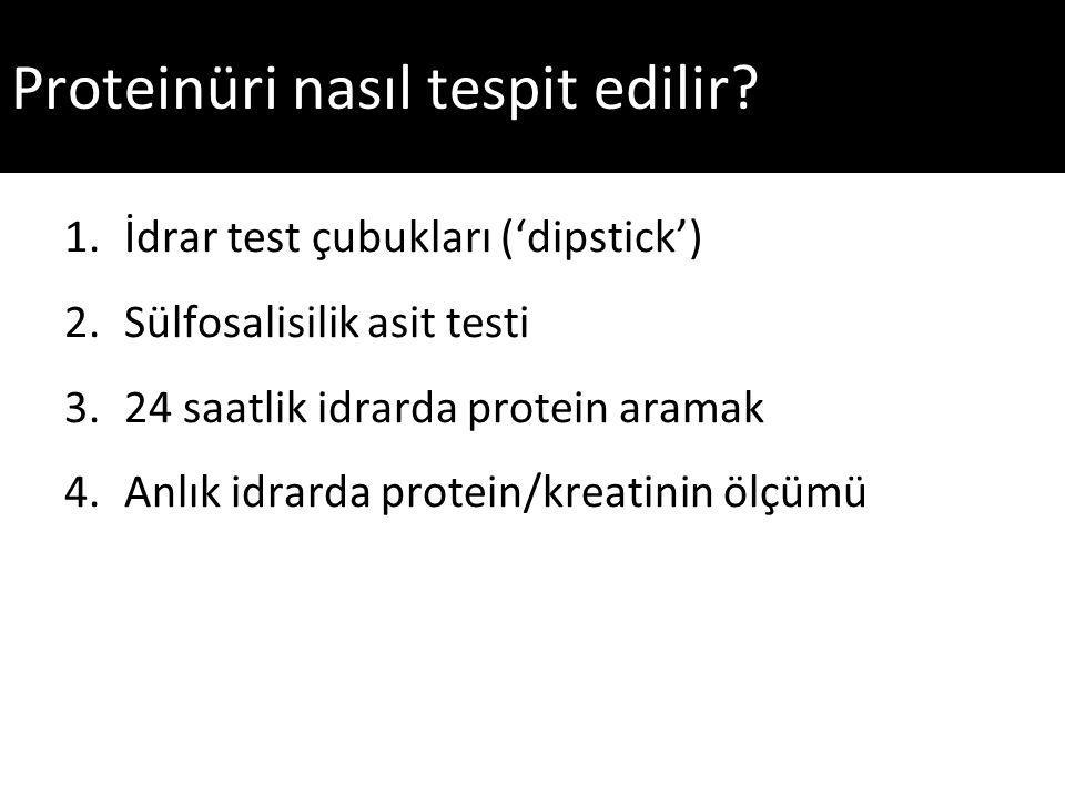 Proteinüri nasıl tespit edilir.