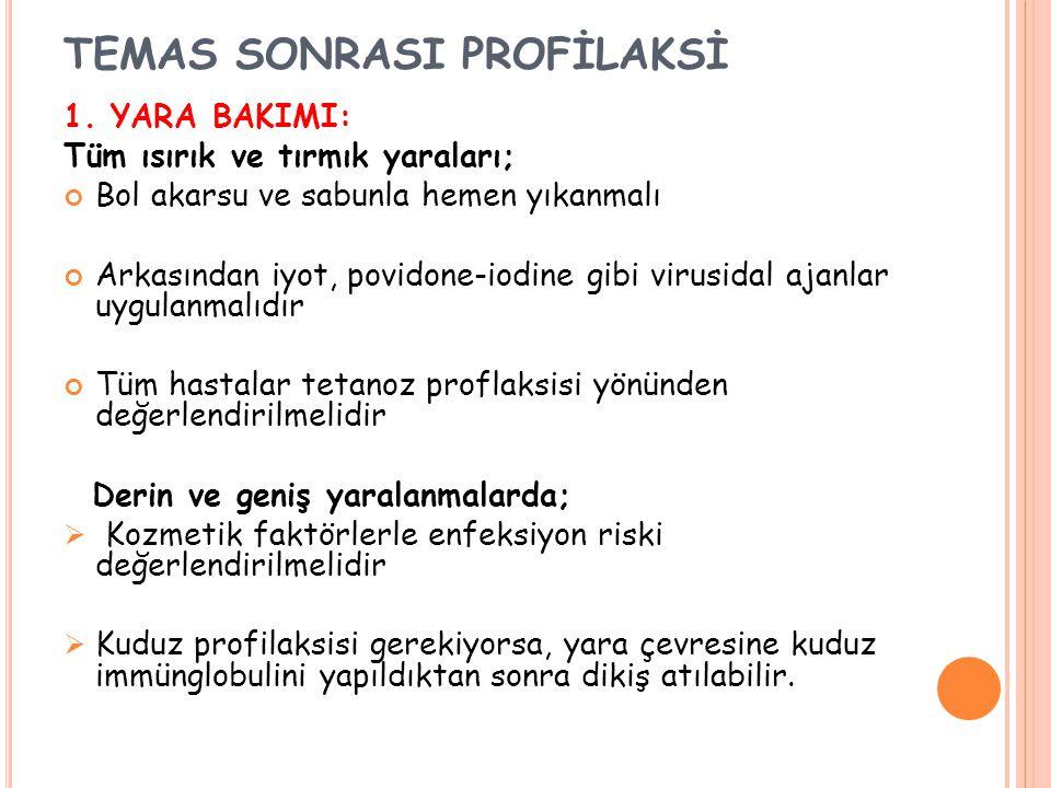 TEMAS SONRASI PROFİLAKSİ 1.