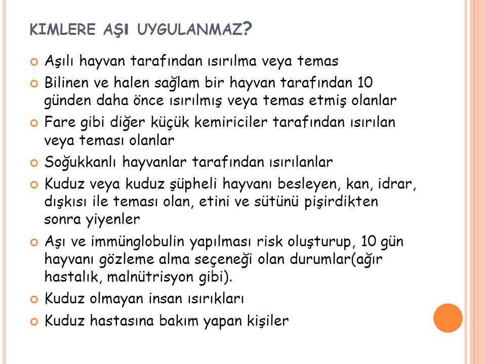 KIMLERE AŞ ı UYGULANMAZ .