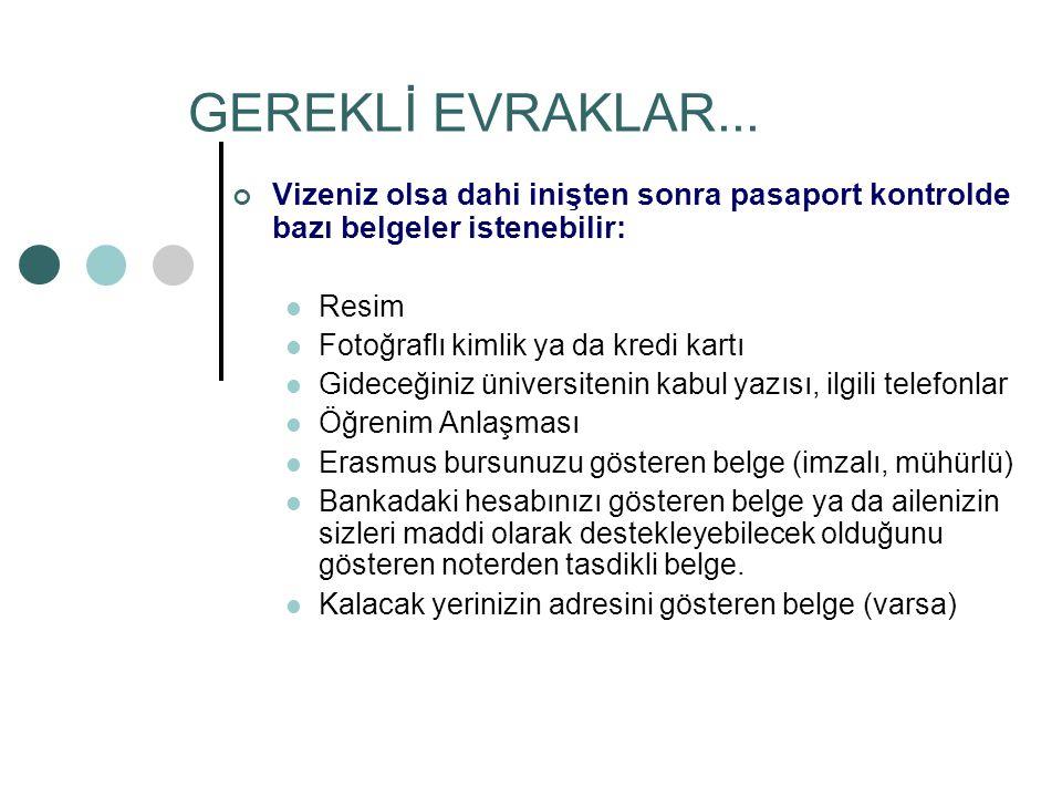 GEREKLİ EVRAKLAR...
