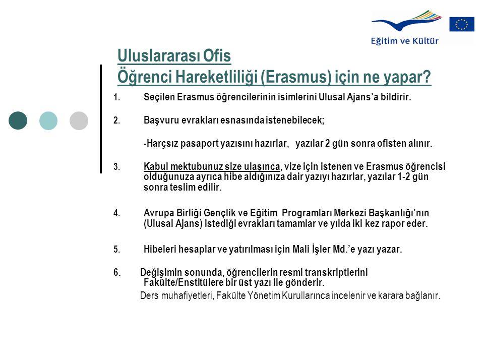 Uluslararası Ofis Öğrenci Hareketliliği (Erasmus) için ne yapar.