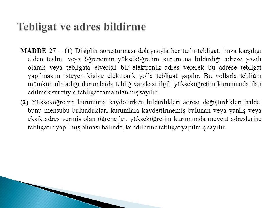 MADDE 28 – (1) Disiplin soruşturmasına ait dosyalar dizi pusulasıyla birlikte teslim edilir ve alınır.