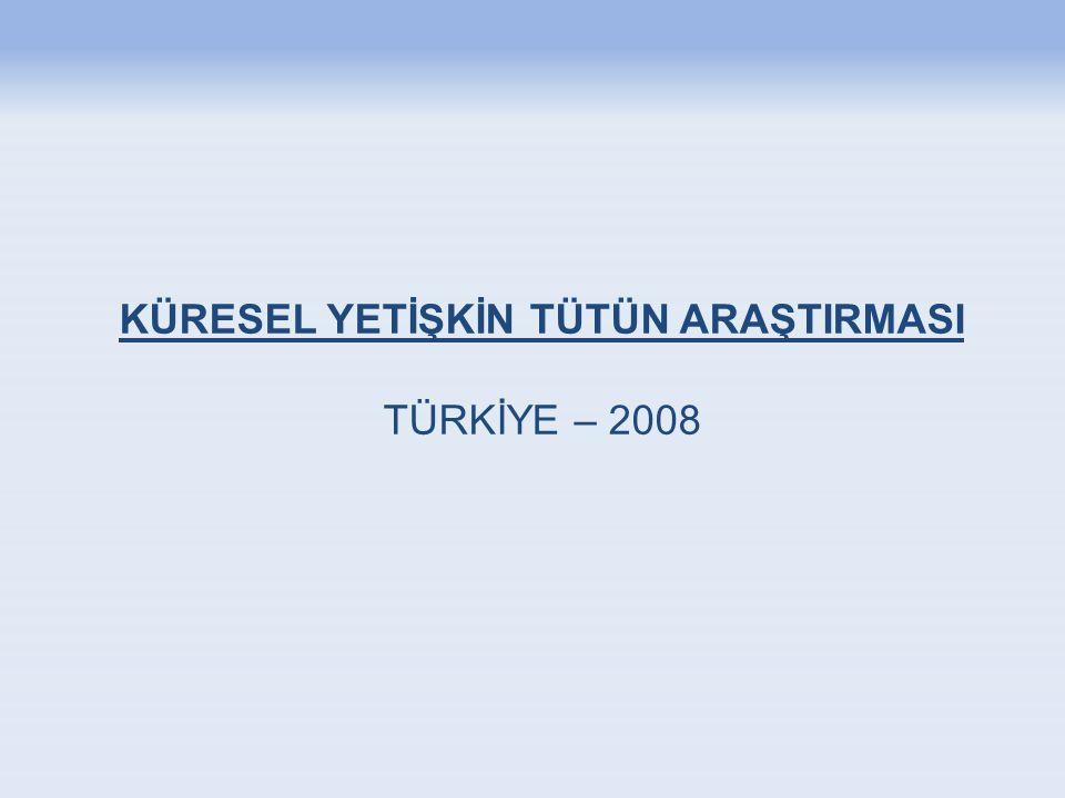 Politika Önerileri-1 Türkiye'de tütün kullanım sıklığı kaygı verici derecede yüksektir; 16 milyon yetişkin sigara içmektedir.