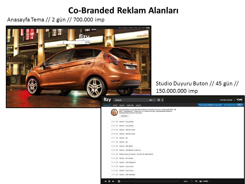 Arama Sonuçları Text Buton // 2 gün // 1.333.333 imp Co-Branded Reklam Alanları 300x250px Banner // 4.000.000 imp