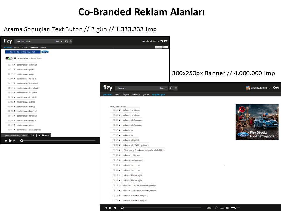Co-Branded Reklam Alanları Arama Sonuçları Kulakçık // 2 gün// 16.000.000 imp