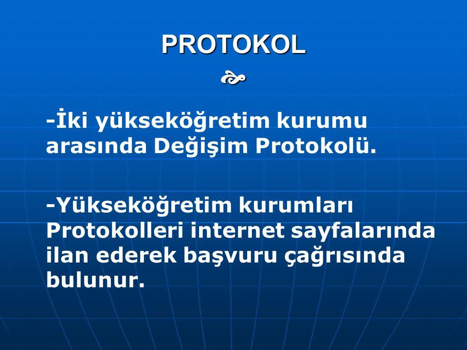 PROTOKOL  -İki yükseköğretim kurumu arasında Değişim Protokolü.