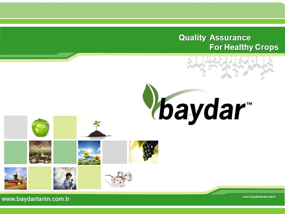 Quality Assurance For Healthy Crops www.baydartarim.com.tr