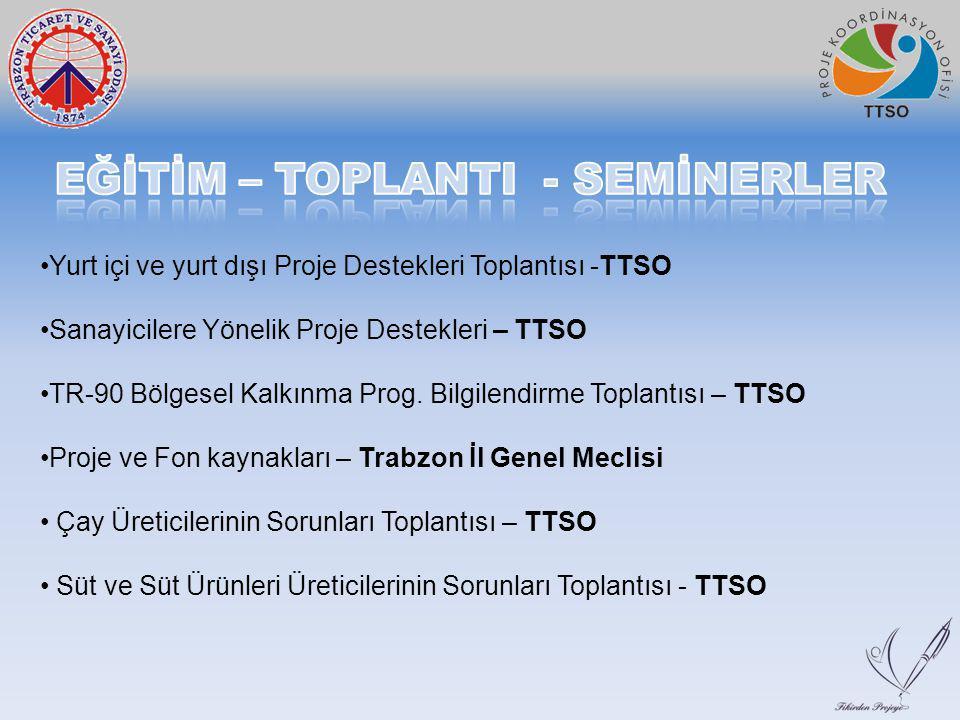 Yurt içi ve yurt dışı Proje Destekleri Toplantısı -TTSO Sanayicilere Yönelik Proje Destekleri – TTSO TR-90 Bölgesel Kalkınma Prog. Bilgilendirme Topla