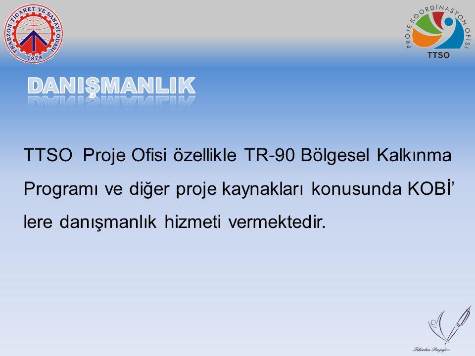 TTSO Proje Ofisi özellikle TR-90 Bölgesel Kalkınma Programı ve diğer proje kaynakları konusunda KOBİ' lere danışmanlık hizmeti vermektedir.