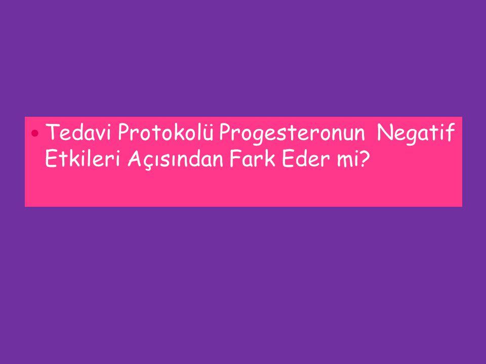 Tedavi Protokolü Progesteronun Negatif Etkileri Açısından Fark Eder mi?
