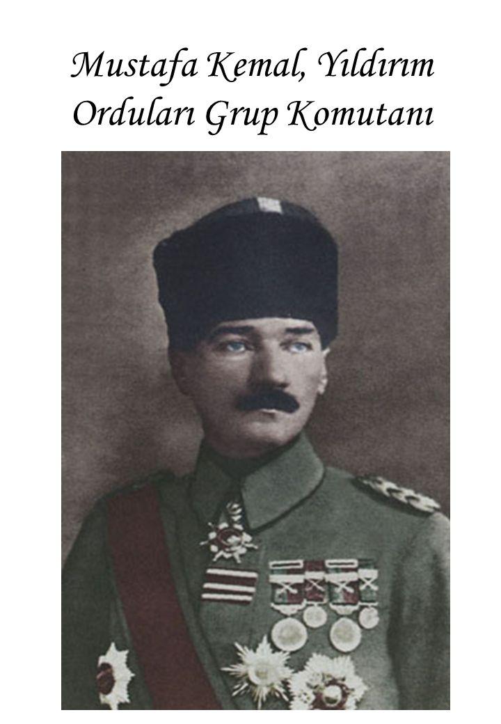 Mustafa Kemal, Yıldırım Orduları Grup Komutanı