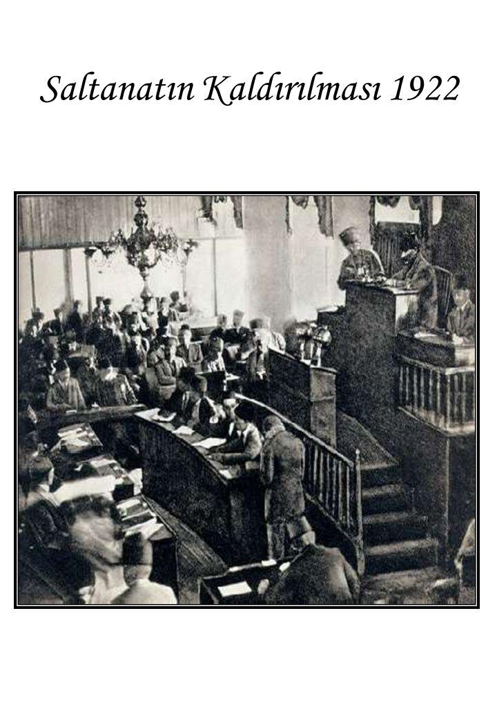 Saltanatın Kaldırılması 1922