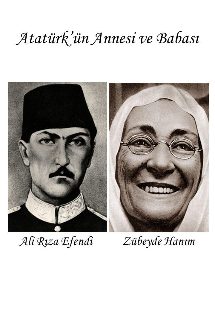 Atatürk'ün Annesi ve Babası Ali Rıza Efendi Zübeyde Hanım