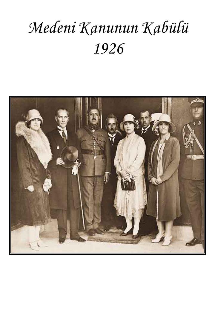 Medeni Kanunun Kabülü 1926