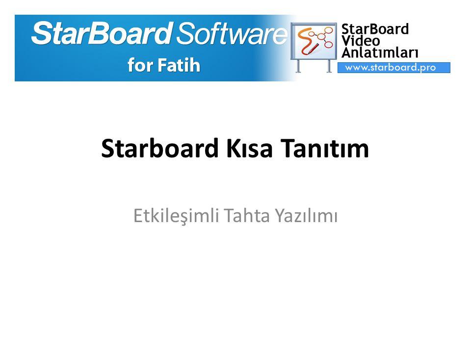 Starboard Kısa Tanıtım Etkileşimli Tahta Yazılımı