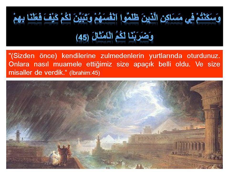 وَقَدْ مَكَرُوا مَكْرَهُمْ وَعِنْدَ اللّٰهِ مَكْرُهُمْۜ وَاِنْ كَانَ مَكْرُهُمْ لِتَزُولَ مِنْهُ الْجِبَالُ ﴿ 46 ﴾ Nihayet onların hileleri de Allah'ın iznine bağlıdır.