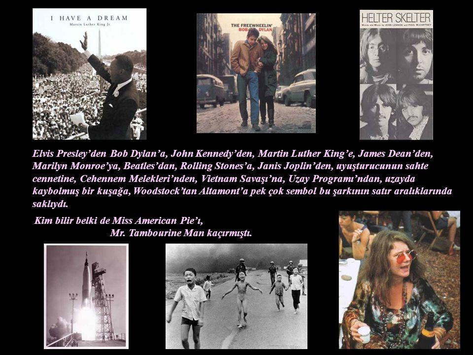 """Bu gazeteleri evlerin kapılarına dağıtan çocuklardan birisi olan küçük Don McLean aradan on bir sene geçtiğinde, unutulmaz şarkısı """"Bye Bye Miss Ameri"""