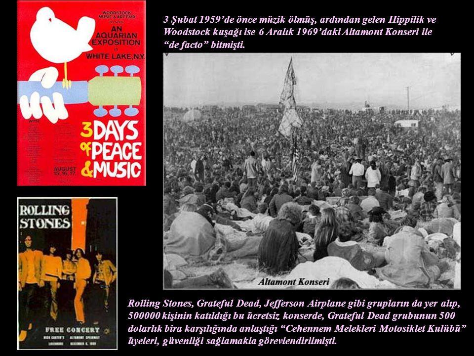 Elvis Presley'den Bob Dylan'a, John Kennedy'den, Martin Luther King'e, James Dean'den, Marilyn Monroe'ya, Beatles'dan, Rolling Stones'a, Janis Joplin'