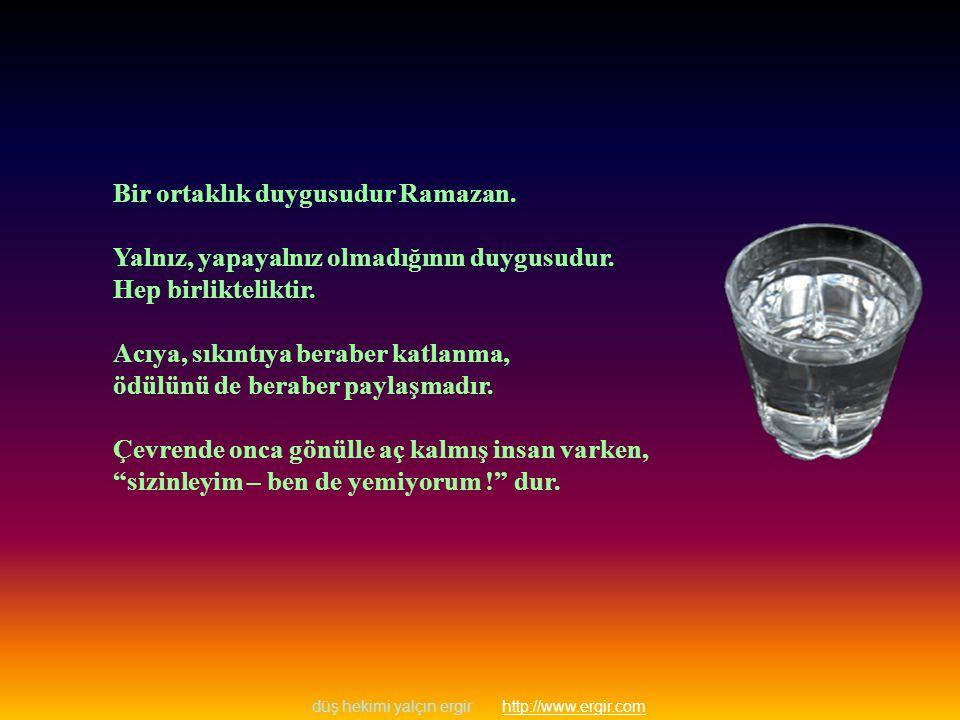 düş hekimi yalçın ergir http://www.ergir.comhttp://www.ergir.com Bir ortaklık duygusudur Ramazan.