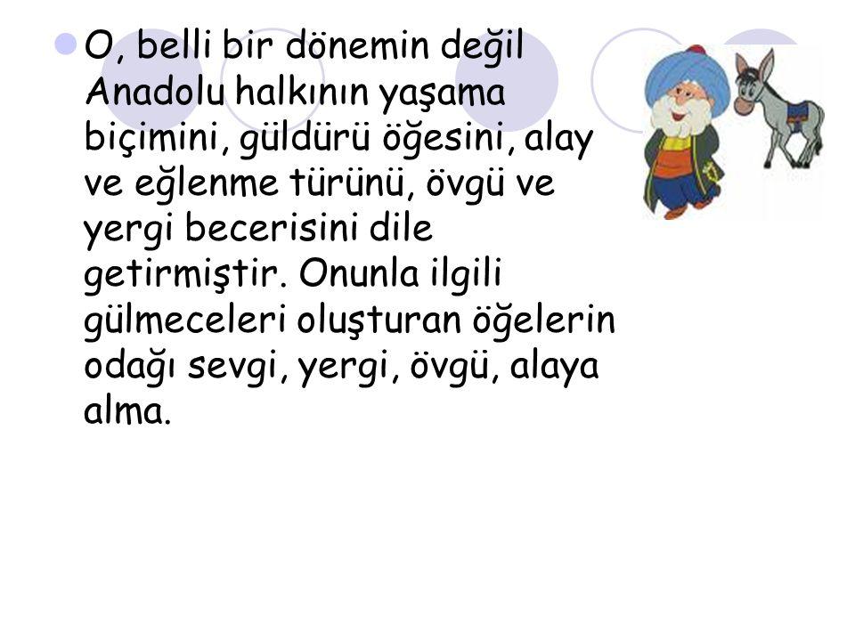 Keramet Sarıktaysa - Adamın biri Nasrettin Hoca nın yolunu kesip elindeki mektubu uzatmış: -Aman Hoca m, gözünü seveyim şu mektubu bana okuyuver.