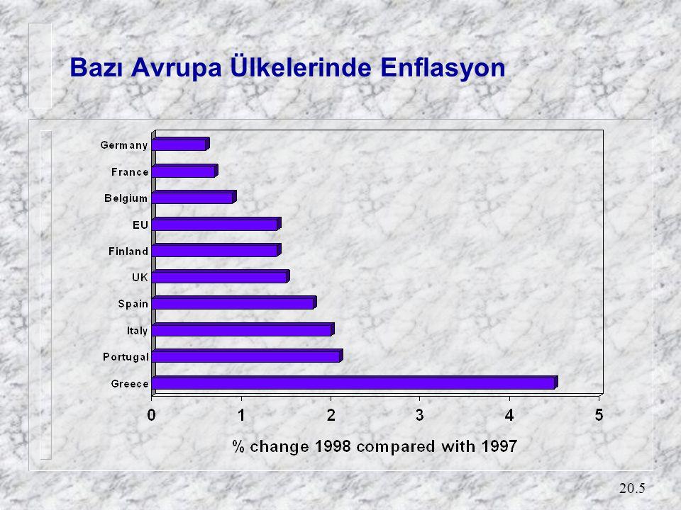 20.5 Bazı Avrupa Ülkelerinde Enflasyon