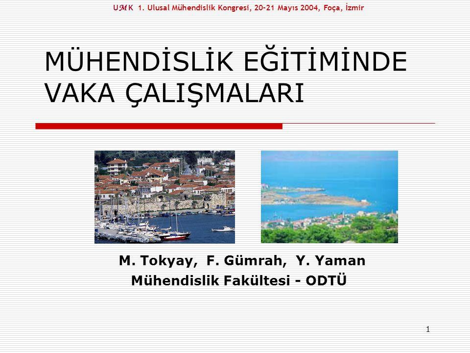 2 Yakınmalar U M K 1. Ulusal Mühendislik Kongresi, 20-21 Mayıs 2004, Foça, İzmir