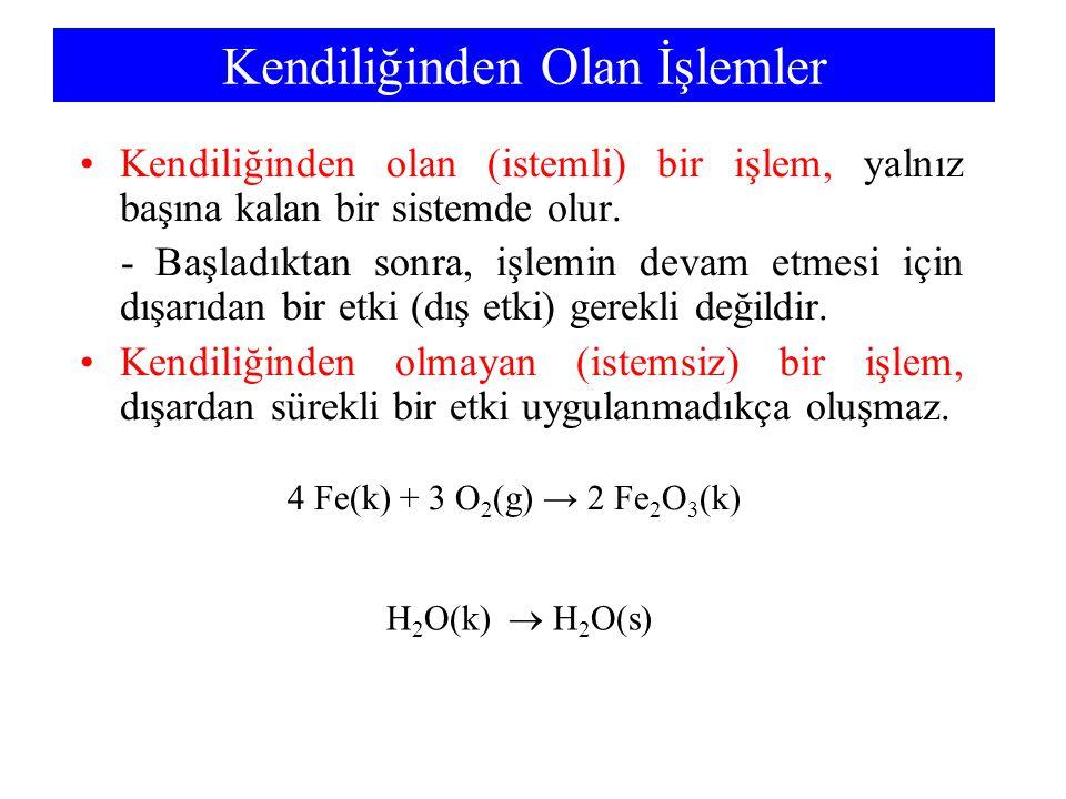 Termodinamik Denge Sabiti: Aktiflikler S = S° - R ln P P°P° = S° - R ln P 1 1,0 bar'da ideal gazlar için : S = S° - R ln c c°c° = S° - R ln a Bu yüzden, çözeltide: PV=nRT veya P=(n/V)RT, basınç etkin derişimdir İdeal bir çözelti için, standart haldeki etkin derişim c° = 1 M'dır.