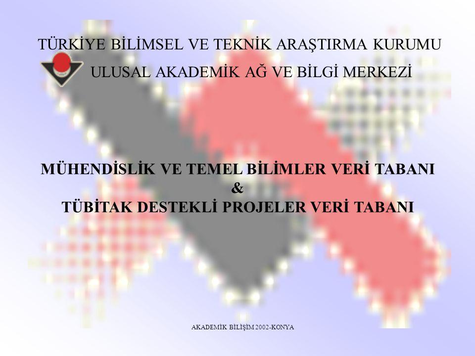 ULAKBİM-Ulusal Akademik Ağ ve Bilgi Merkezi Mühendislik ve Temel Bilimler Veri Tabanı Hangi disiplinleri kapsar.
