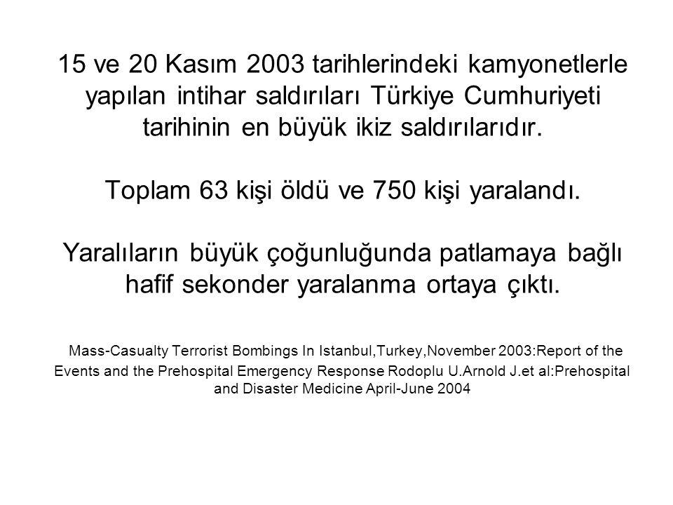 15 ve 20 Kasım 2003 tarihlerindeki kamyonetlerle yapılan intihar saldırıları Türkiye Cumhuriyeti tarihinin en büyük ikiz saldırılarıdır.