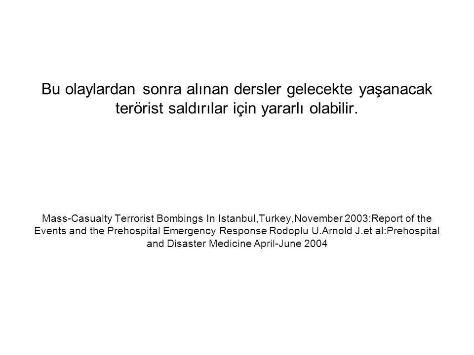 Bu olaylardan sonra alınan dersler gelecekte yaşanacak terörist saldırılar için yararlı olabilir.