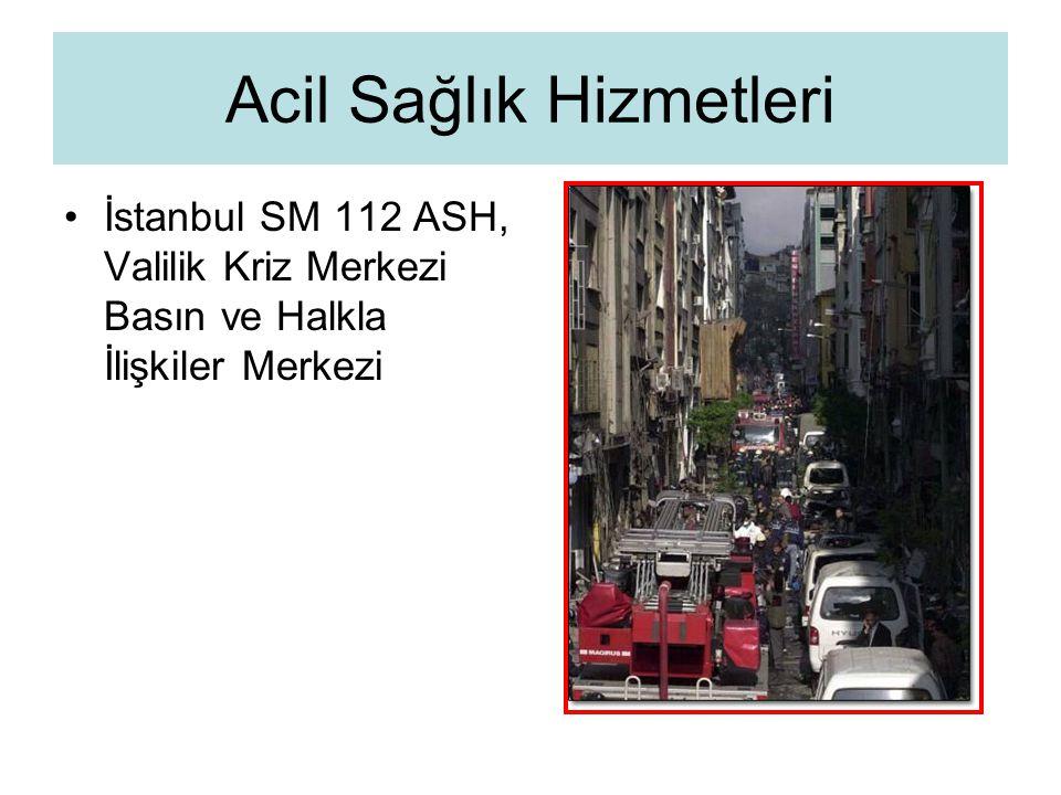 İstanbul SM 112 ASH, Valilik Kriz Merkezi Basın ve Halkla İlişkiler Merkezi Acil Sağlık Hizmetleri