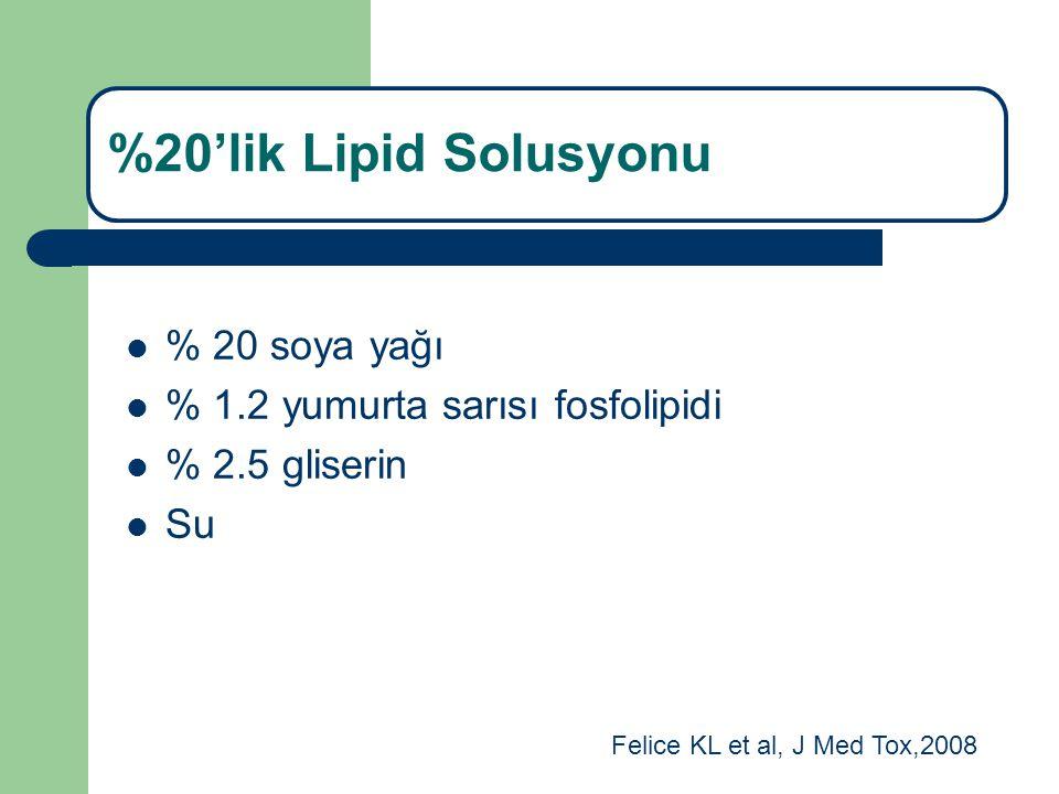 %20'lik Lipid Solusyonu % 20 soya yağı % 1.2 yumurta sarısı fosfolipidi % 2.5 gliserin Su Felice KL et al, J Med Tox,2008