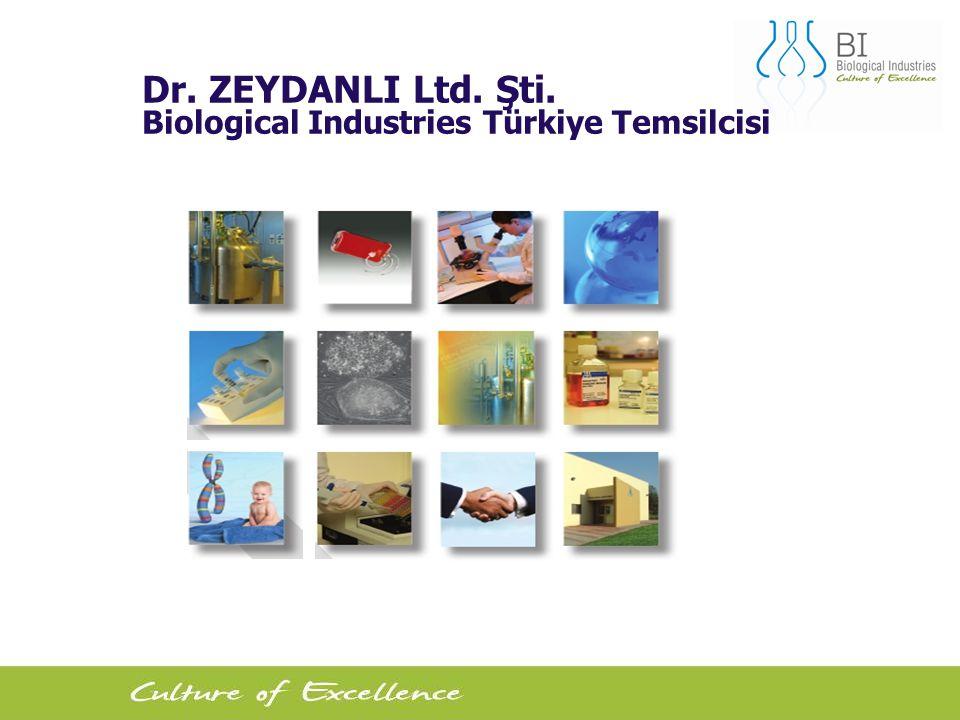 1 Dr. ZEYDANLI Ltd. Şti. Biological Industries Türkiye Temsilcisi