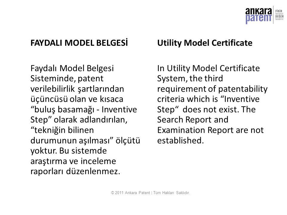 """FAYDALI MODEL BELGESİ Faydalı Model Belgesi Sisteminde, patent verilebilirlik şartlarından üçüncüsü olan ve kısaca """"buluş basamağı - Inventive Step"""" o"""
