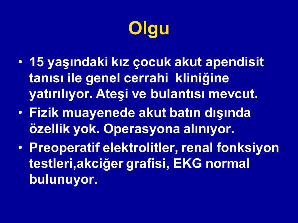 Ozmolalite Plazma Ozmolalite: Posm = 2 (Na) + glukoz/18 + BUN/2.8 mEq/l mg/dl mg/dl Normal = 2 (140) + 5 + 5 = 290 (275-290 mOsm/kg )
