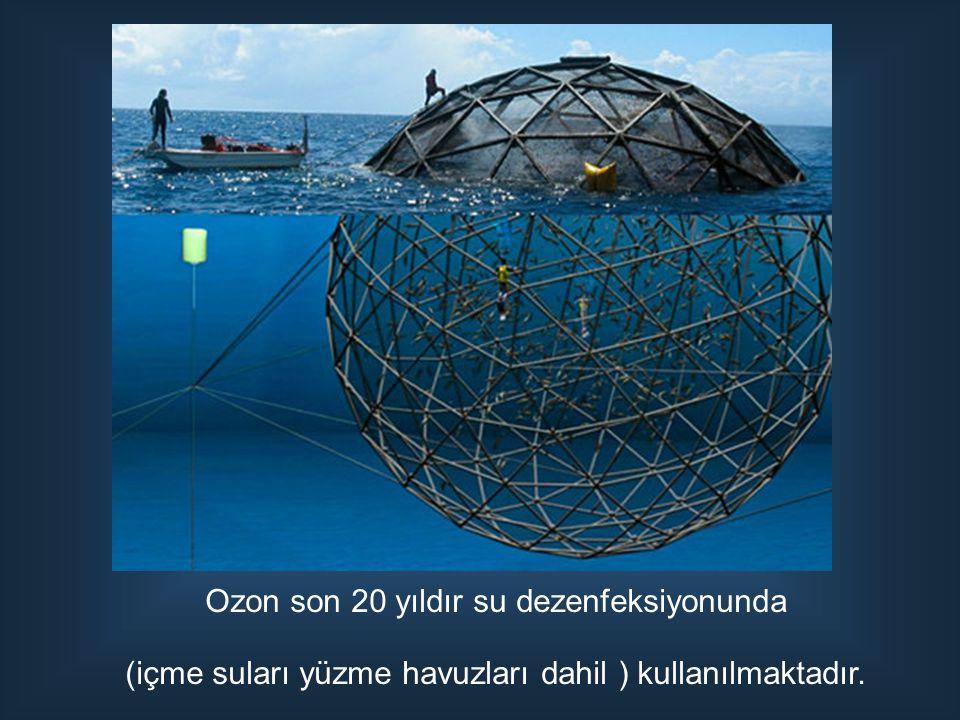 Ozon son 20 yıldır su dezenfeksiyonunda (içme suları yüzme havuzları dahil ) kullanılmaktadır.