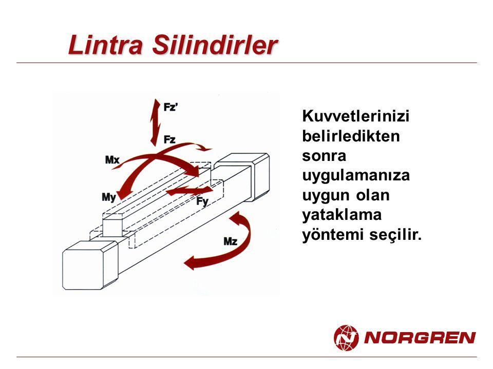 Lintra Silindirler Kuvvetlerinizi belirledikten sonra uygulamanıza uygun olan yataklama yöntemi seçilir.